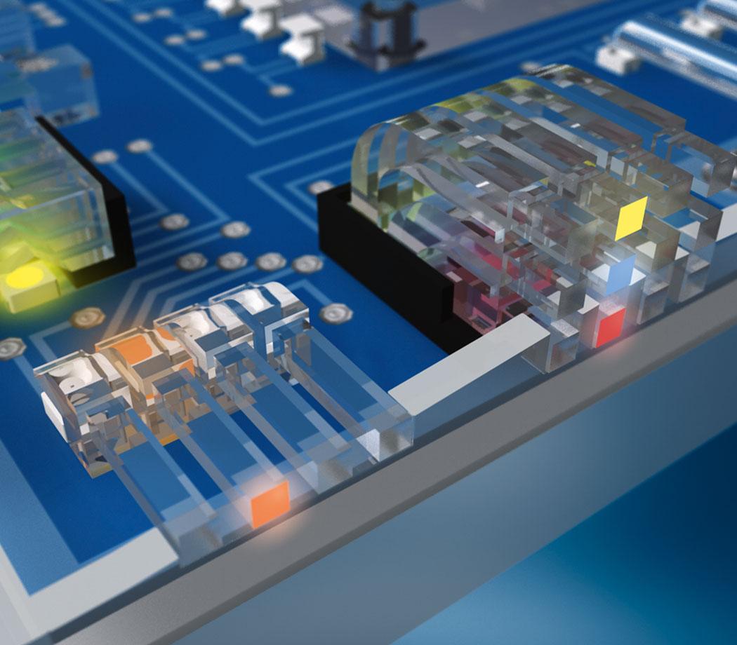 Ljusledare Opto-elektroniska komponenter